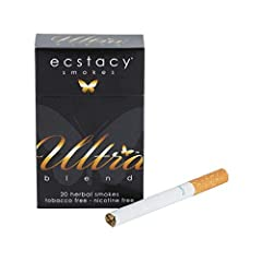 Tobacco FREE Nicotine FREE Potent & Effective Ultra Smooth Smoke Ecstacy Brand = Highest Quality!,