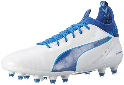 Puma Evotouch Pro FG, Botas de fútbol para Hombre, Blanco White-True Blue-Blue Danube 05, 40.5 EU
