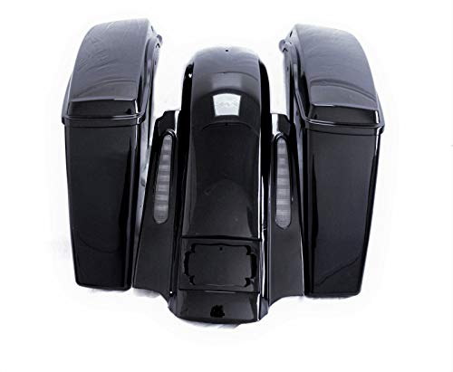 Buy Bargain Cvo Light No Cut Out Extended Rear Fender w Saddlebags Packages combo set Harley