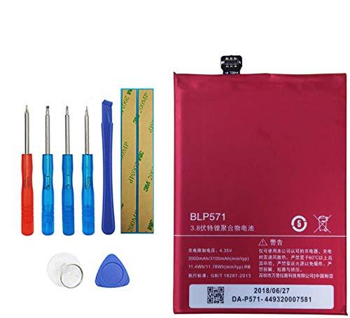 Upplus Batería de repuesto BLP571 compatible con Oneplus One 1+ A0001 con kit de herramientas