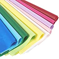 Multi-Color Rainbow Tissue Paper Sheets for Crafts, Gift Wrapping (10 Colors, 120 Pack)