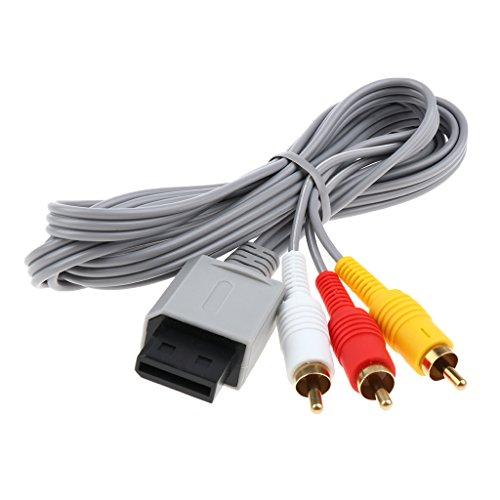 Almencla HD componente de TV RCA áudio vídeo A/V cabo plugue para Nintendo Wii U Wii