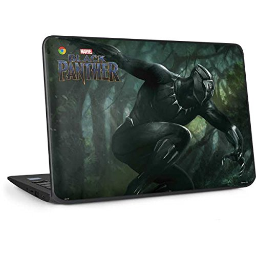 Skinit Decal Laptop Skin for Chromebook 11 G6 EE - Officially Licensed Marvel/Disney Black Panther in Action Design