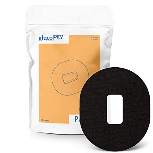 Glucology - Dexcom G4 G5 CGM Pflaster Black | 25er-Pack | Wasserfestes flexibles Klebepflaster für Diabetes CGM