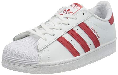 adidas Superstar C, Zapatillas Deportivas, FTWR White Scarlet FTWR White, 34 EU