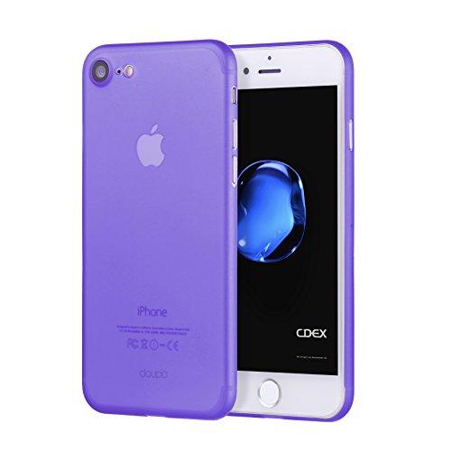 doupi UltraSlim Hülle für iPhone SE (2020) / iPhone 8/7 (4,7 Zoll), Ultra Dünn Fein Matt Oberfläche Handyhülle Cover Bumper Schutz Schale Hard Case Design Schutzhülle, lila