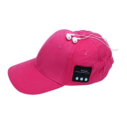alsu3luy02Ld Anti-UV Sommer Baseball Cap Bluetooth Kopfhörer Sun Hat Smart Wireless Headset, rot