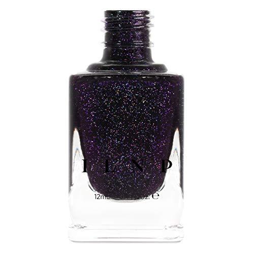 ILNP Annabelle - Striking Blackened Eggplant Purple Holographic Nail...