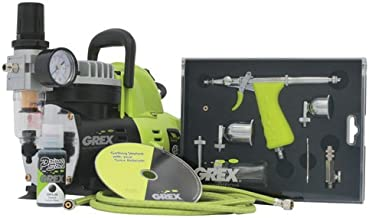 Grex GCK02 Airbrush Combo Kit with Tritium.TS3 Airbrush, AC1810-A Compressor, Accessories and DVD
