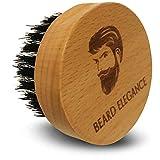 BEARD ELEGANCE Bart-Bürste Rund - Hochwertige Bartbürste Aus Buchenholz Mit