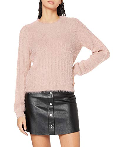 VERO MODA Damen VMLAPOILU LS O-Neck Blouse Boo Pullover, Sepia Rose, XL