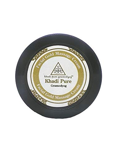 Khadi Pure Herbal Face Gold Massage Cream With Sheabutter, 50 g