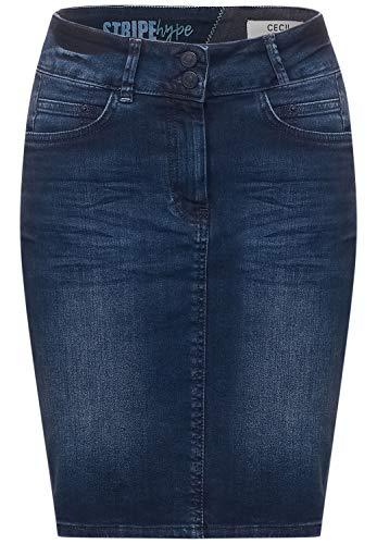 Cecil Damen Jeansrock Rock, Blue/Black Used wash, 36