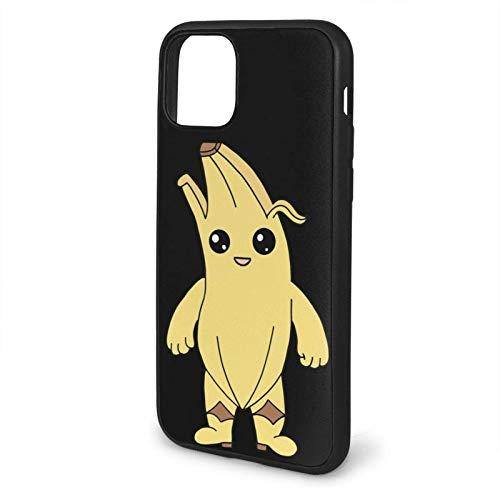 ZhangyJ Caja de teléfono Negra FortNte PeEly Banana Skin Compatible con iPhone 12/12 Pro MAX Mini 6/6s 7/8 Plus X/XS XR 11 Pro MAX SE 2020 Samsung Huawei LG Series Caso