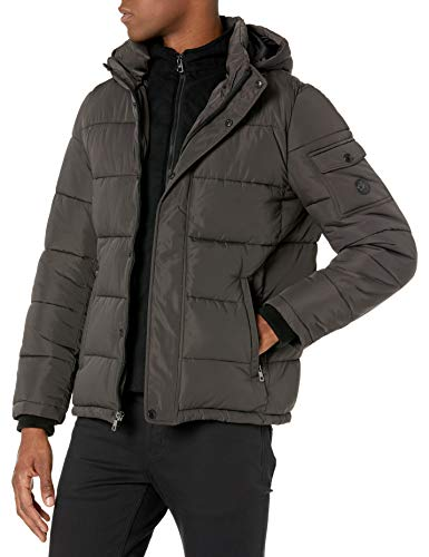 Calvin Klein Herren Alternative Down Puffer Jacket with Bib Windjacke, grau, XX-Large