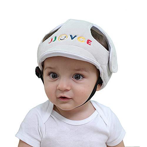Eyand Baby Safety Helmet - Sombrero de casco de seguridad ajustable para niños pequeños,Sombrero de seguridad protector infantil suave,Sombrero de protección para la cabeza para caminar gateando(Gris)