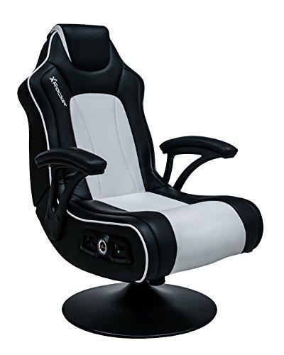 X Rocker par, piel sintética, negro/blanco, 81,5x 66,5x 105cm
