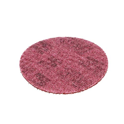 Scotch-Brite Surface Conditioning Disc for Sanding  Metal Surface Prep  Hook and Loop  Aluminum Oxide  Medium Grit  4.5 diam.  Pack of 10