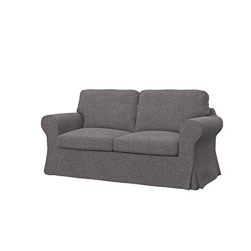 Soferia - IKEA EKTORP Funda para sofá Cama de 2 plazas, Naturel Stone