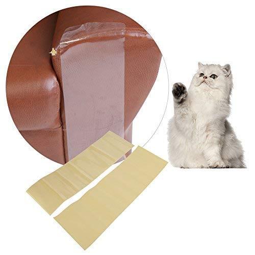 HEEPDD HEPDD Katzen-/Couch-Schutz, groß, transparent, selbstklebend, Kratzbaum, Möbel, Sofa-Schutz für Polstermöbel, Tür, Wände, Matratze, 2 Stück