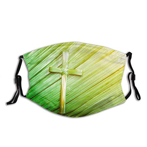 Bunte CHRIST Cross-Face Maske mit 2 Filter, atmungsaktive, verstellbare Filter, Maske Palm Sonntag Sturmhaube für Erwachsene Heilige Woche beginnt mit Palm Sunday