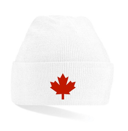 Canada/Kanada Strickmütze Teamwear weiß & schwarz|weiß