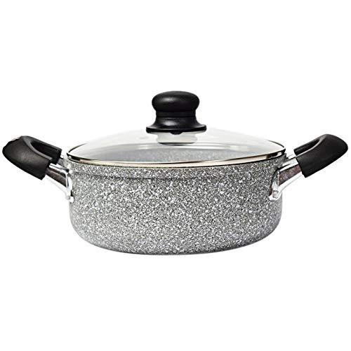 DYXYH Sopa de Fideos Piedra cazo Antiadherente Cotaing cazuela de Cocina Que Cocina Accessoris for la Estufa de Gas y Cocina de inducción