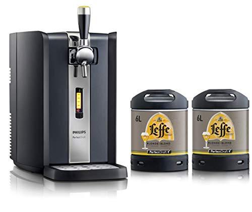 Dispensador de cerveza PerfectDraft de 6 litros. Incluye 2 barriles de 6 litros. Incluye un depósito de 10 euros (Leffe Blonde) - Regalo de navidad ideal