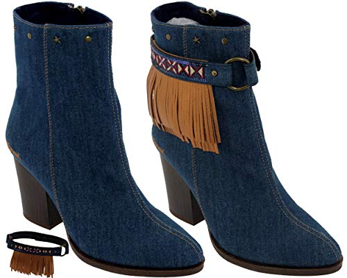 Desigual, Damen Stiefel & Stiefeletten, Blau - Bleu (5053 Denim) - Größe: 40 EU