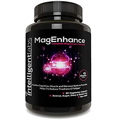 MagEnhance Magnesium Supplement, Magnesium-L-Threonate Complex, with Magnesium Glycinate and Taurate, 100% Money Back Guarantee! Vitamin Magnesium