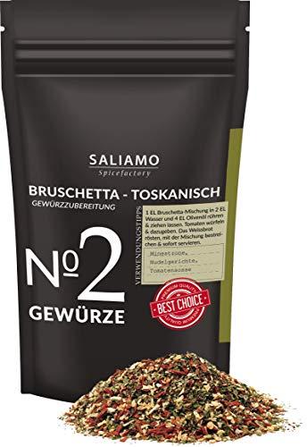 Bruschetta Gewürz - Toskanisch Gewürzmischung mit Tomate, Knoblauch, Salz, Petersilie, Basilikum, Pfeffer, Oregano, als Dip und zum marinieren von Fleisch geeignet 100 g | Saliamo