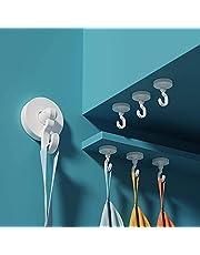 Anupow 4 Pack zelfklevende haken, handdoekhaken houder voor opknoping jas, hoed, kleding, handtas, zware douche wandhanger haken voor badkamers, woonkamer, slaapkamer, keuken, toilet, deur