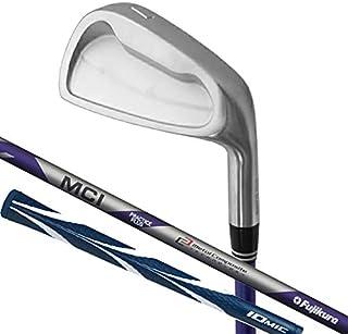 Lynx リンクス ゴルフ フジクラ MCI PRACTICE PLUS グニャグニャシャフト搭載 ゴルフ スイング 実打可能 練習器 (軟鉄鍛造ヘッド) IOMIC Sticky Opus3 2.3 グリップ 男女兼用 ネイビー/ホワイト,M...