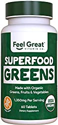 powerful Amazing 365 Organic Fruits  Vegetables Super Green Tablets – Superfoods Green Juice Powder…
