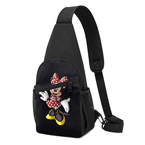 Boweike Sling Backpack Casual Cute Minnie Crossbody Daypack Shoulder Bag Chest Bag Rucksack