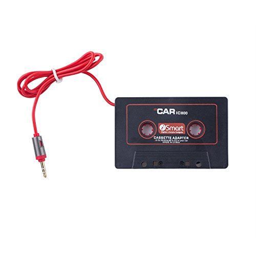 OKCS Kassetten Adapter - Autoradio Car Tape AUX Adapter f/ür Ihr Auto mit 3,5 mm Klinkenstecker kompatibel mit Smartphones CD-Player Discman UVM - Schwarz//Rot MP3-Player Tablets 2019