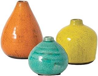 Sullivans Small Ceramic Vase Set, Various Sizes, Set of 3 (CM2219)