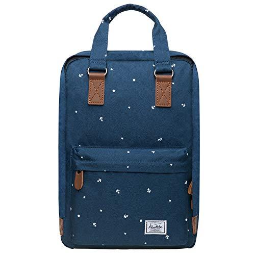 KAUKKO Laptop Rucksack Einfacher und Unisex Daypack Handtasche für Schul Reisen für 12 Zoll Notebook,28 * 14 * 40cm/ 16L