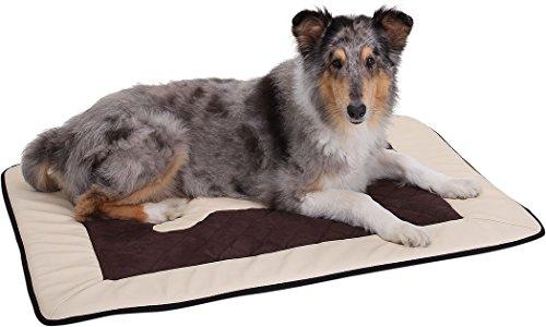 Knuffelwuff 12669 Universal Hundematte Fim Exclusive für Haus Garten Auto viel mehr, XXL, 112 x 83 cm, beige/braun