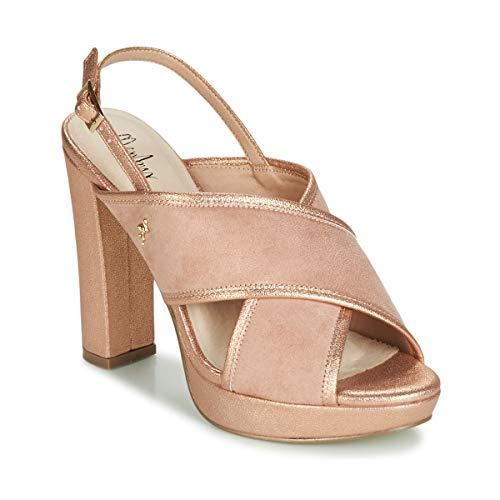 Menbur Villalba Sandalen/Sandaletten Damen Rose/Gold - 38 - Sandalen/Sandaletten Shoes