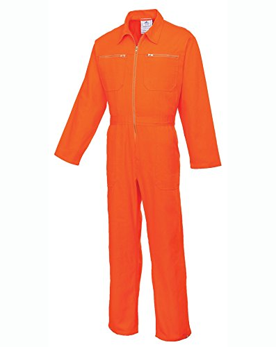 PORC811ORRL - Cotton Boilersuit Orange - Large R - Large EU / Large UK