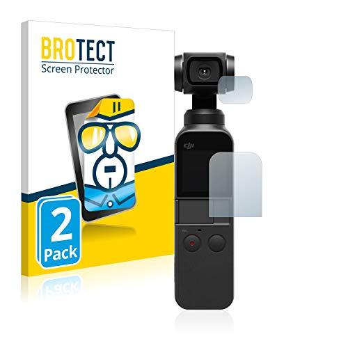 BROTECT Protector Pantalla Compatible con dji Osmo Pocket (Pantalla + Lente) Protector Transparente (2 Unidades) Anti-Huellas