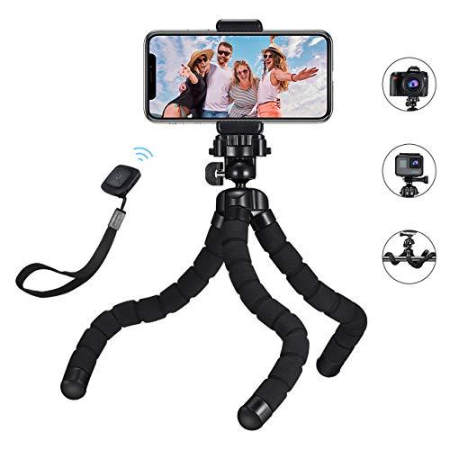 professionnel comparateur Un trépied flexible de Mpow dans le style poulpe avec une télécommande Bluetooth pour smartphones et appareils photo… choix