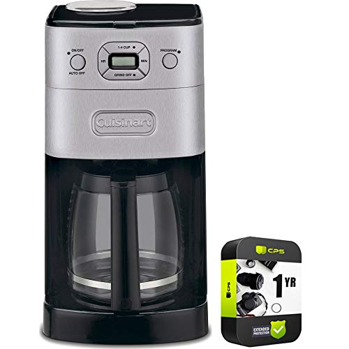 Cuisinart DGB-625BC Grind & Brew 12-Cup Automatic Coffee Maker Bundle with Bundle with 1 Year Extended Protection Plan