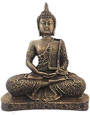 Mishtienterprises Gautam samadhi Buddha Bronze Finished Statue for Home Décor Idol for Gift Pooja