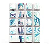 Mugen Custom Hatsune Miku 17pc Anime Sublimation Numper Pad Keycaps Set for Cherry MX Switches - Fits Most Mechanical Gaming Keyboards - with Keycap Puller
