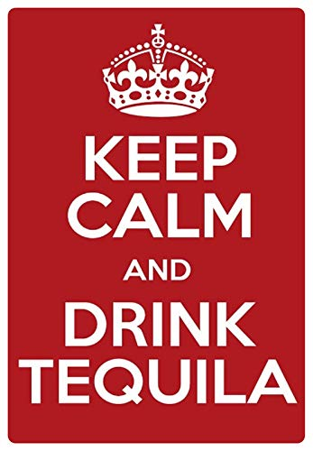 Metalen bord 20x30cm Keep Calm Drink Tequila bord Tin Sign
