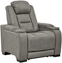 Signature Design by Ashley The Man-Den Power Recliner, Gray