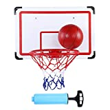 Tablero de baloncesto colgante de 70cm Aro Tableros de montaje en pared de baloncesto Tablero de baloncesto de interior al aire libre para niños Juego de juguete para niños con bomba de aire