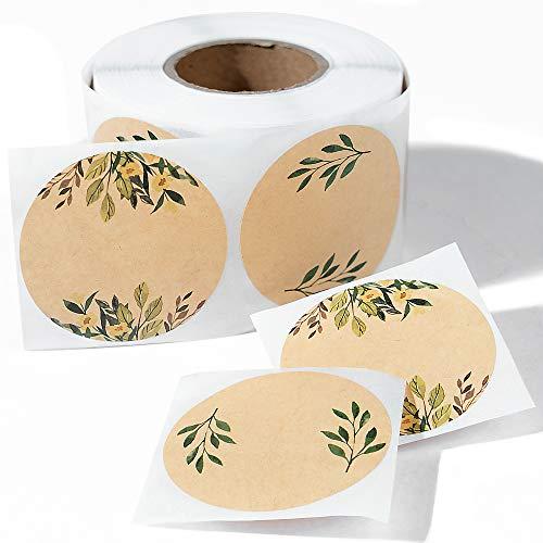 "(500pc/Roll) 2"" Label Stickers for Jars and Lids -(Floral Color)- Pantry Labels | Mason Jar Labels | Sticker Labels | Canning Labels | Spice Labels | Bottle Labels | Mason Jar Labels"
